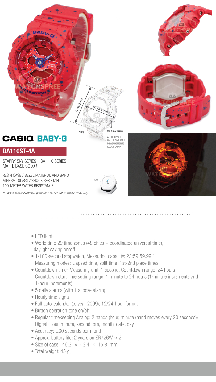 Casio Baby G Ba 110 Starry Sky Series Watch Ba110st 4a 4549526173721 112 Item Specifics