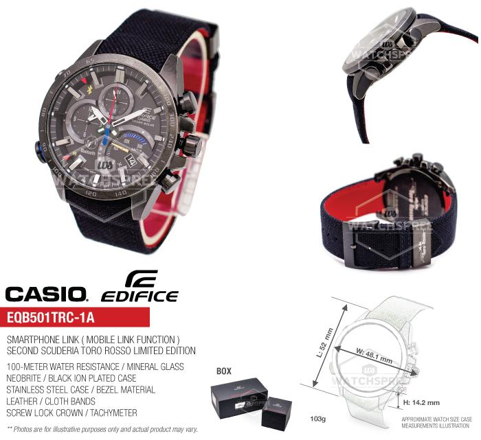 Casio Edifice Scuderia Toro Rosso Limited Edition Watch ...