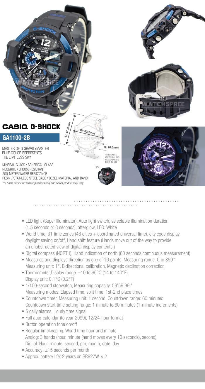 Casio G Shock Master of G Gravitymaster Series Watch GA1100  e74bQ